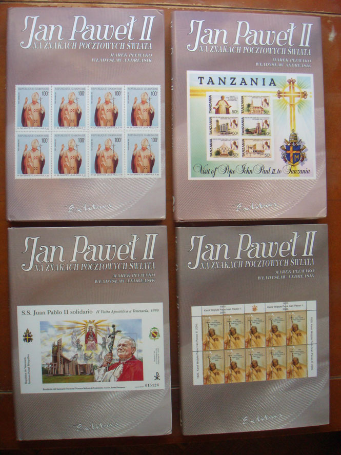 John Paul II World Stamps 1978-2005, Vol 1-4 Photo