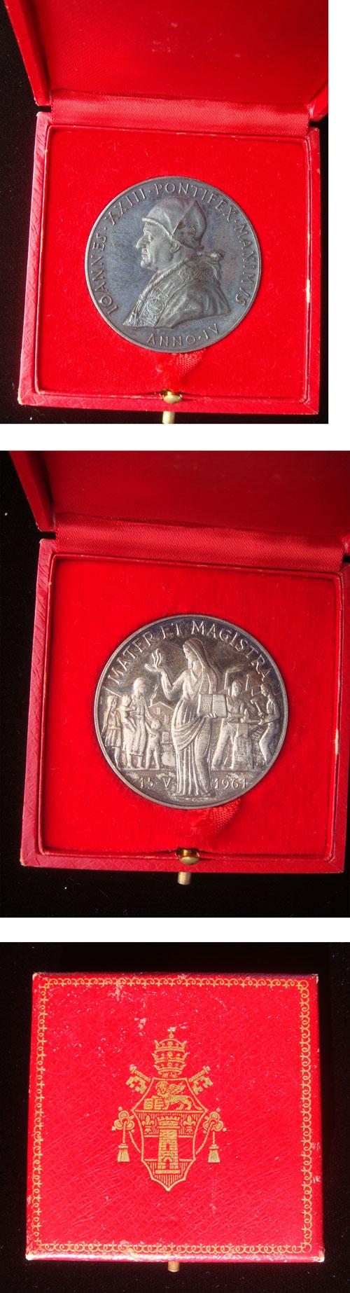 John XXIII Anno IV Medal, Mater Et Magistra Photo