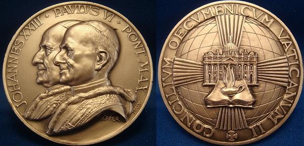 John XXIII/Paul VI Ecumenical Council Medal 50mm Photo