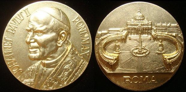 John Paul II (1978-2005) Gilt Bronze 59mm Photo