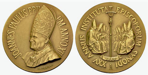 John Paul II Anno XII Bronze Medal Photo
