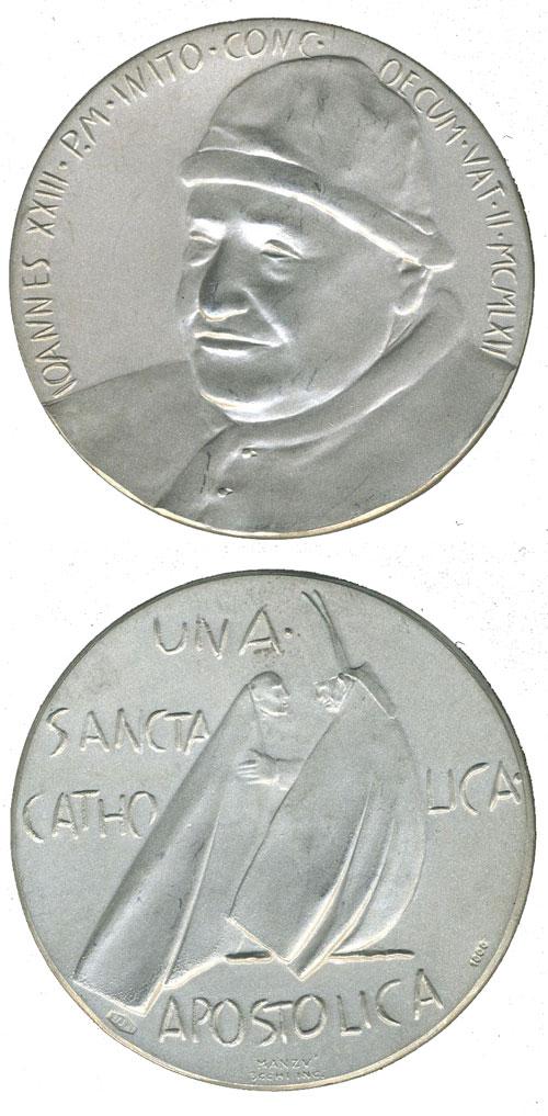 John XXIII 1962 Vatican II Silver Medal Photo