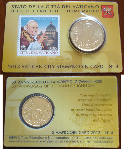 2013 Vatican Coin-Stamp Card John XXIII Photo
