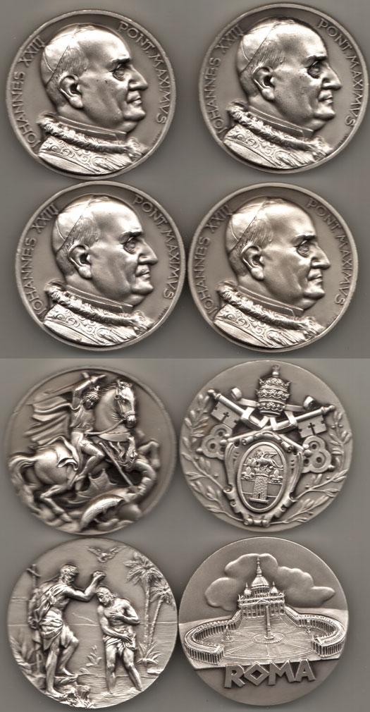Lot of 4 John XXIII Medals Photo