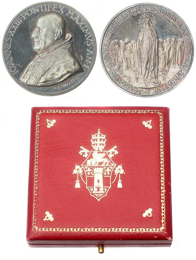 John XXIII 1959 Anno I Silver Medal w/Case Photo