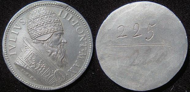 Julius III (1550-55) Black Basalt Medal c.1780 Photo