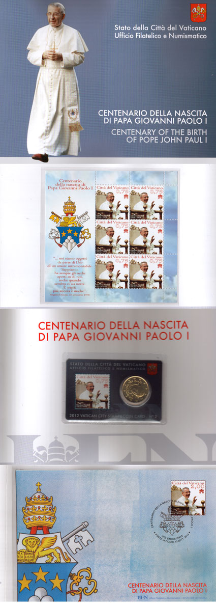 2012 Vatican John Paul I Folder Photo