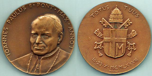 John Paul II - 1st Year Medal, Bronze Photo