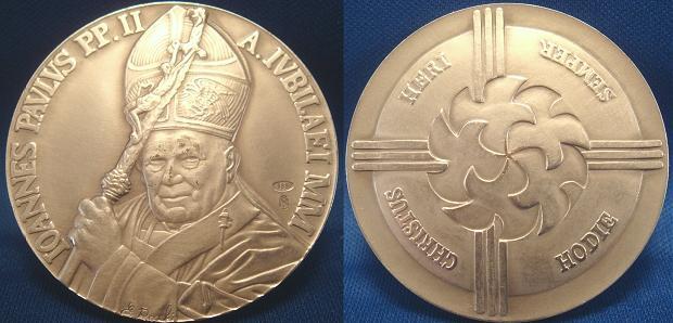John Paul II Anno XXII Silver Medal Photo