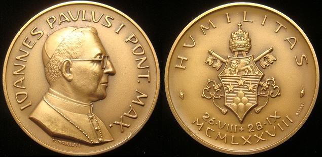 John Paul I 1978 Bronze Medal 36mm Photo