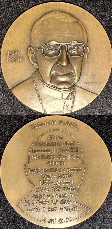 1978 John Paul I Medal 90mm Photo