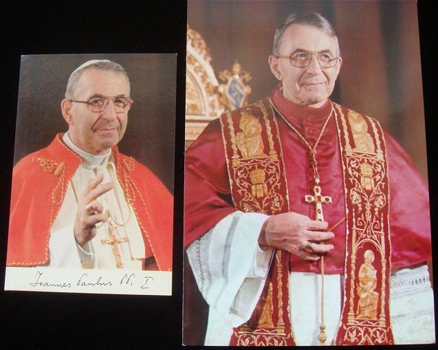 Two Pope John Paul I Picture Postcards Photo