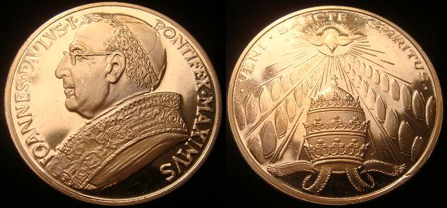 John Paul I (1978) Holy Spirit Medal Photo