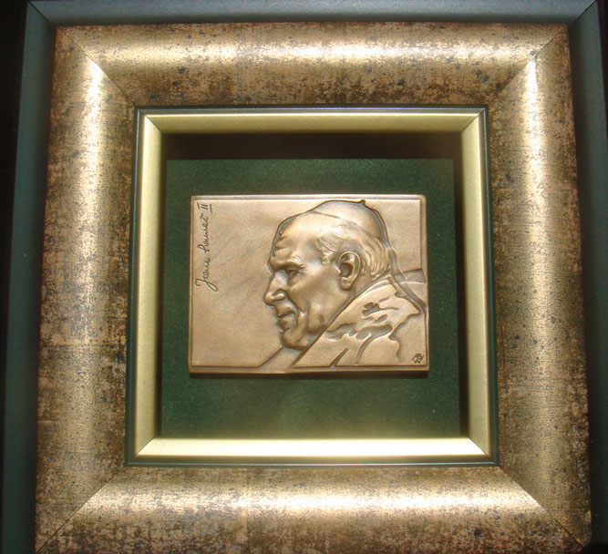 2005 Poland John Paul II Rectangular Medal Photo