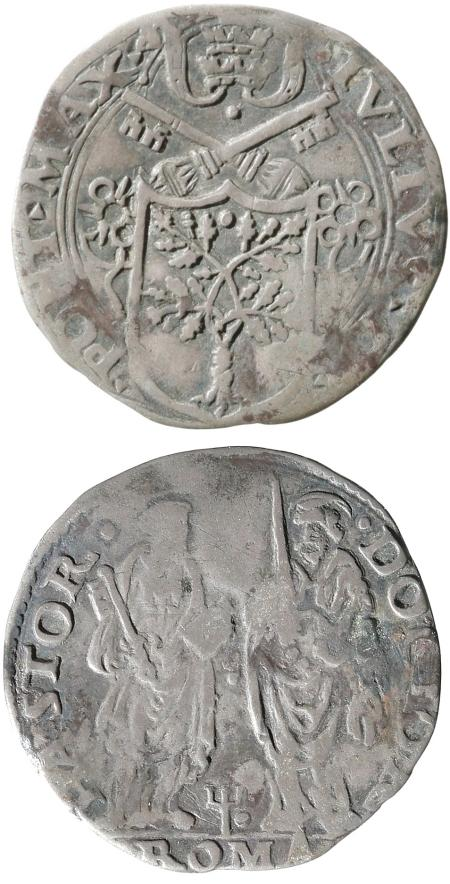 Julius II (1503-13) Silver Giulio Coin Photo