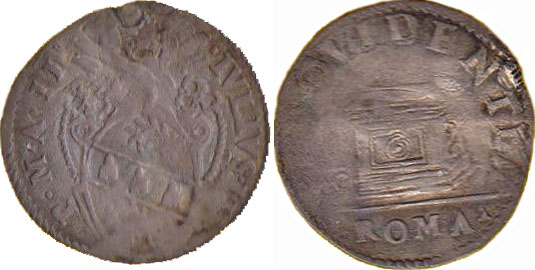 Julius III 1551 Silver Grosso Coin Photo