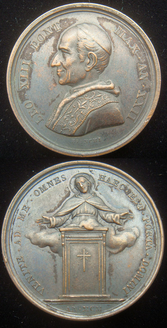 Leo XIII 1900 Holy Year Pilgrims Medal 30mm Photo