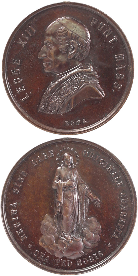 Leo XIII (1878-1903) Immaculate Conception 47mm Photo