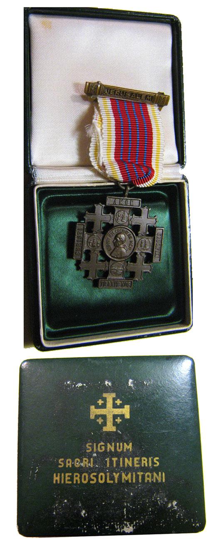 Leo XIII Jerusalem Cross of Honor - Bronze Photo