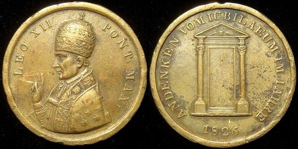 Leo XII 1826 Holy Door, Germany Medal Photo