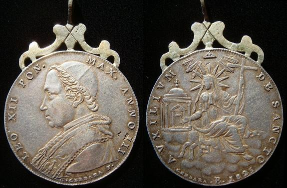 Leo XII 1825 Silver Scudo 41mm VF+ Photo
