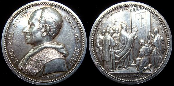 Leo XIII 1900 Opening Holy Door Silver Medal Photo