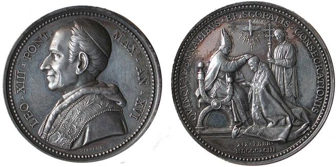 Leo XIII 1893 Episcopal Jubilee Silver Medal Photo