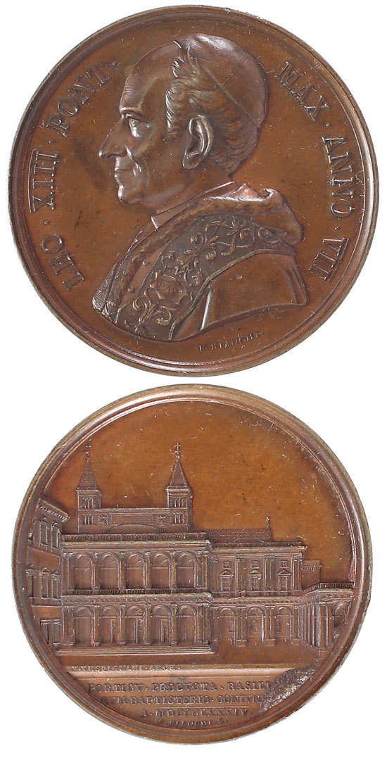 Leo XIII 1884 Bronze Medal Loggia of Benediction Photo