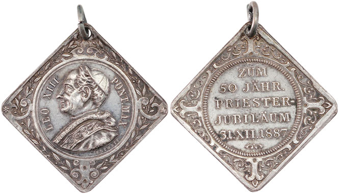Leo XIII 1887 Anniversary Priesthood Medal Photo