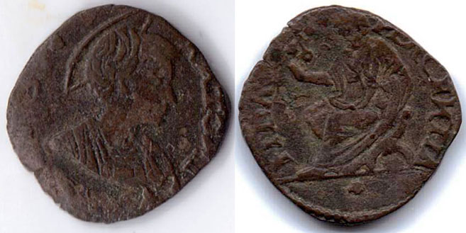 Leo X (1513-21) Piacenza St. Antoninus Coin Photo