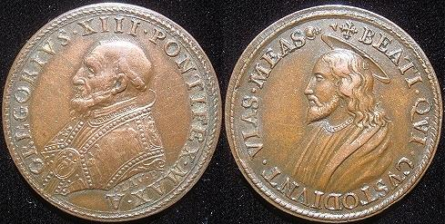 Gregory XIII (1572-85) Bronze Medal Photo