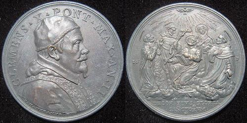 Clement X (1670-6) Anno II Bronze Medal Photo