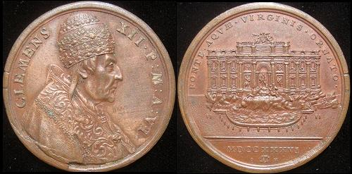 Clement XII (1730-40) Anno VI Bronze Medal Photo