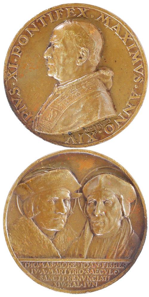 Pius XI (1922-39) A.XIV Ss Thomas More John Fisher Photo
