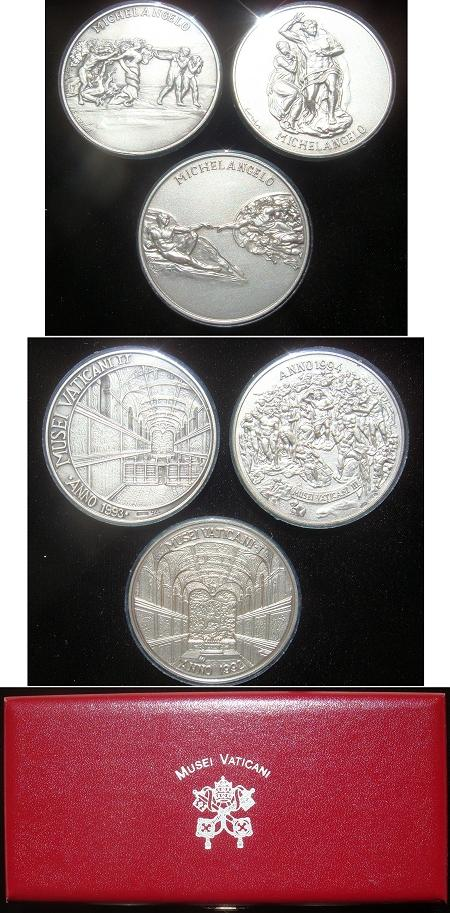 Vatican Museum Silver Medal Set Photo
