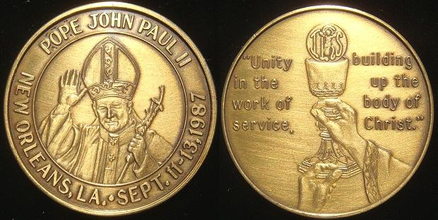 John Paul II 1987 Trip to New Orleans Medal Photo