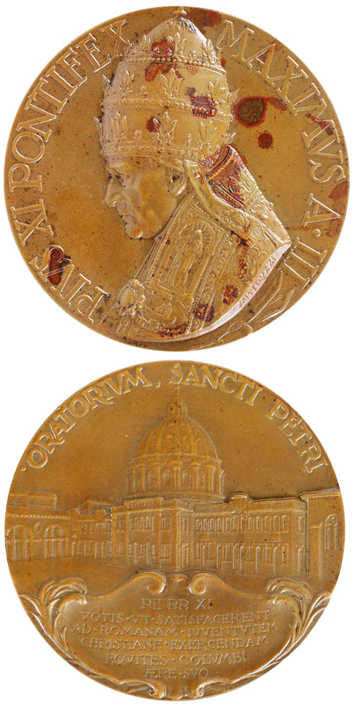 Pius XI 1924 Oratory of St. Peter 70mm Photo