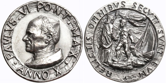 Paul VI (1963-78) Anno X Silver Medal Photo