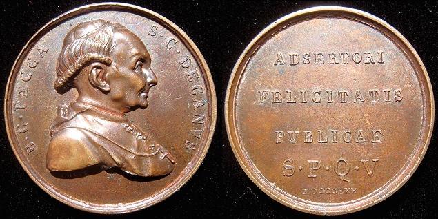 1830 Cardinal Bartolomeo Pacca Medal Photo