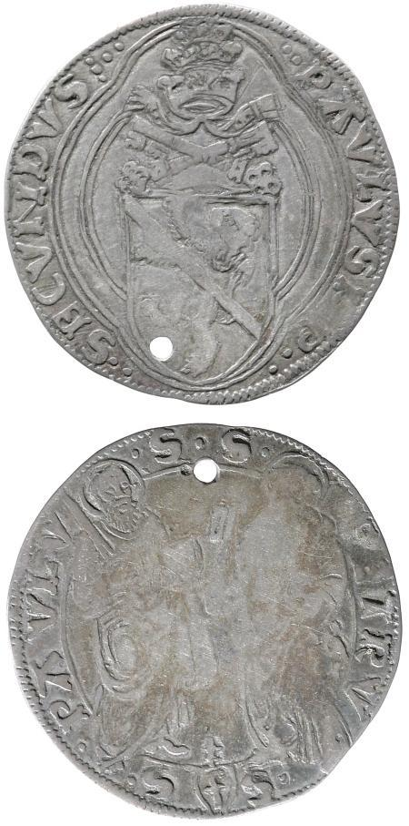 Paul II (1464-71) Silver Grosso, Ancona Photo