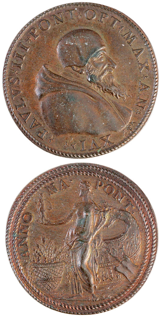 Paul III (1534-59) Goddess Annona Medal Photo