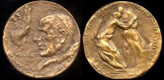 Paul VI (1963-78) Anno VII Bronze Medal Photo