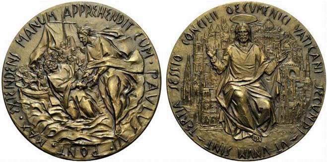 Paul VI 1964 Ecumenical Council Bronze Medal Photo