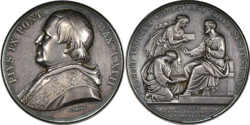 Pius IX (1846-78) A.XVII Peter's Pence Photo