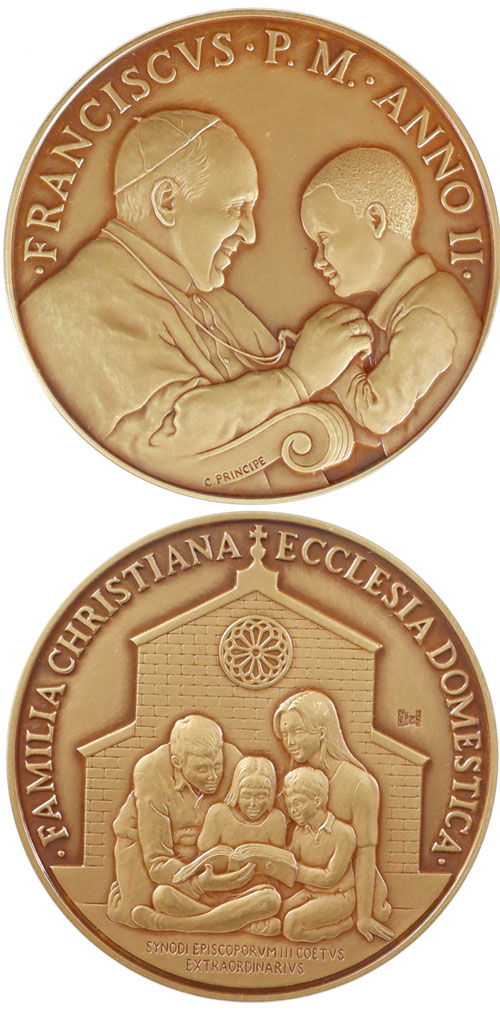 Pope Francis Anno II Ae Medal Extraordinary Synod Photo