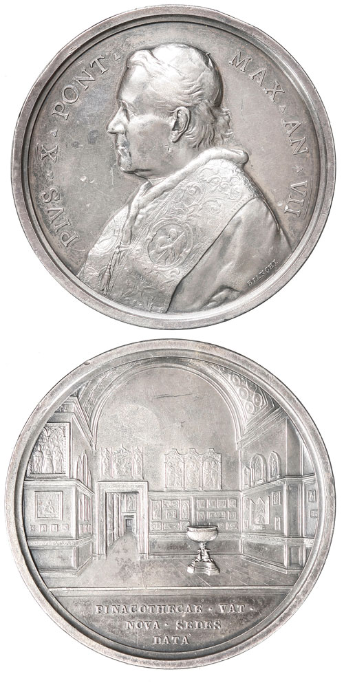 Pius X (1903-14) A.VII Silver Medal Photo