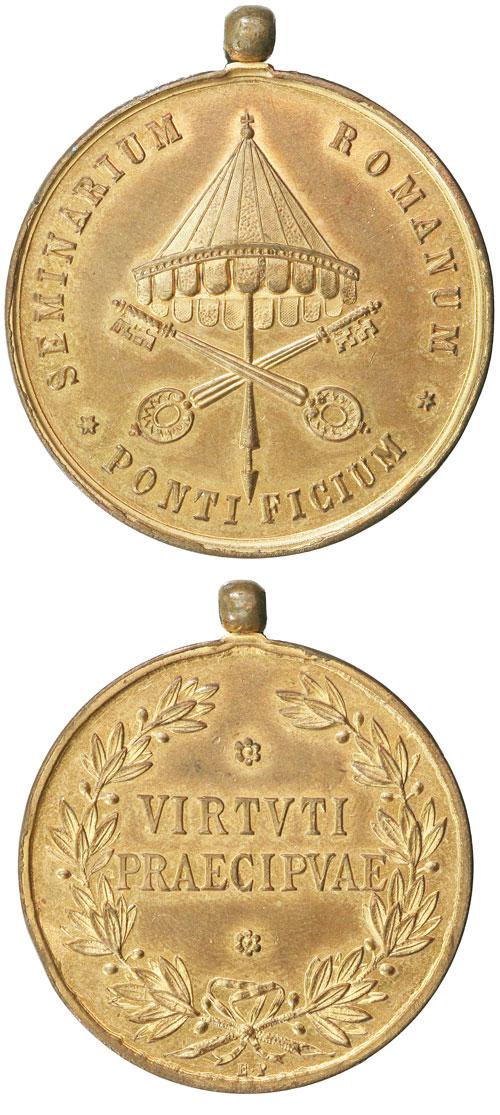 (Pius VII) Seminario Vaticano Medal c.1805-10 Photo