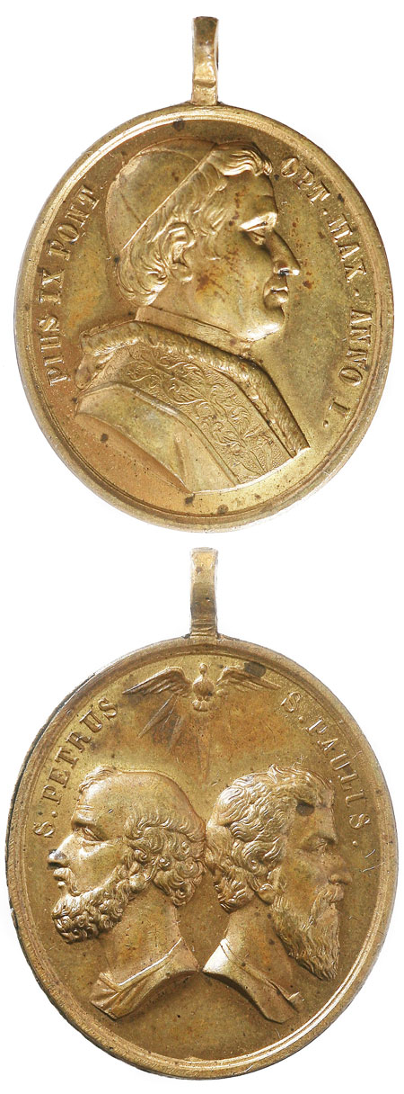 Pius IX 1846 Devotional Medal Photo