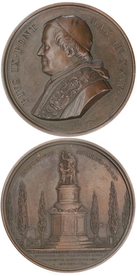 Pius IX (1846-78) An.XXIV Verano Cemetery Photo