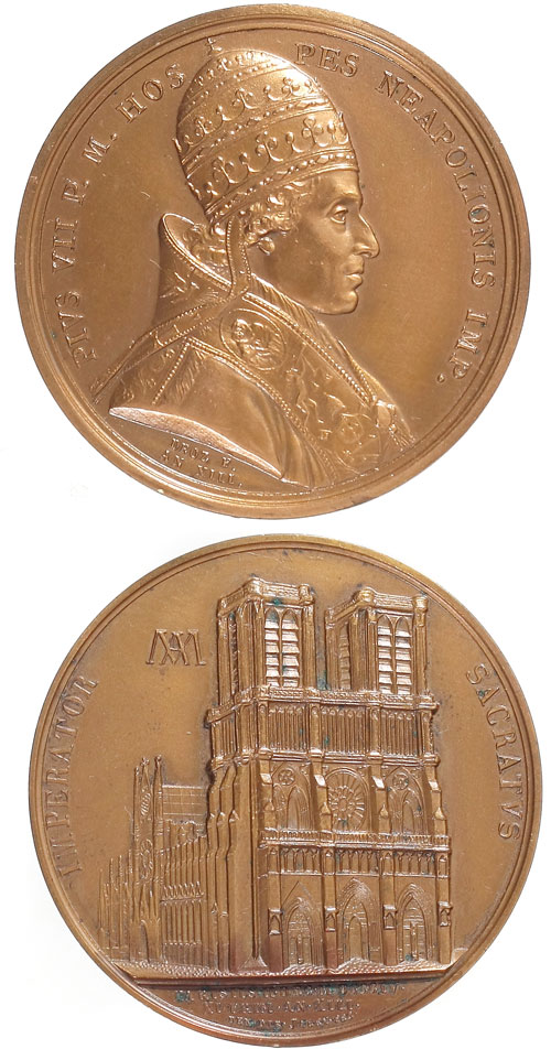 Pius VII 1804 Napoleon Coronation Medal Photo